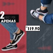 COMBO 2 PARES TÊNIS ALL STAR TRADICIONAL + VANS OLD SKOOL
