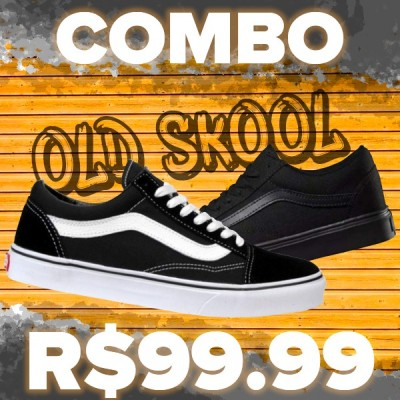 COMBO 2 PARES TÊNIS VANS OLD SKOOL